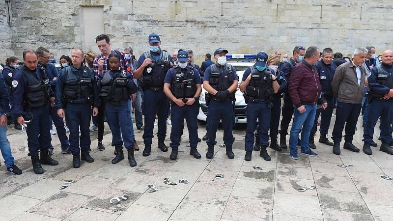 """La policía francesa protesta por el """"maltrato"""" del gobierno de Macron"""