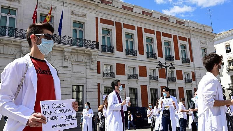 Miles de médicos protestan por la falta de recursos y la precariedad laboral