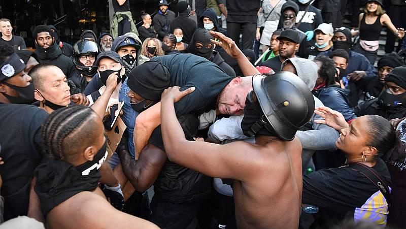 Disturbios en las protestas contra el racismo de Londres y París