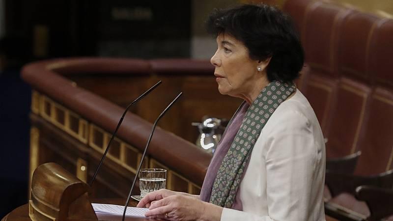 """Celaá advierte que rechazar la LOMLOE es """"defender  el mantenimiento"""" de la política de recortes del PP"""