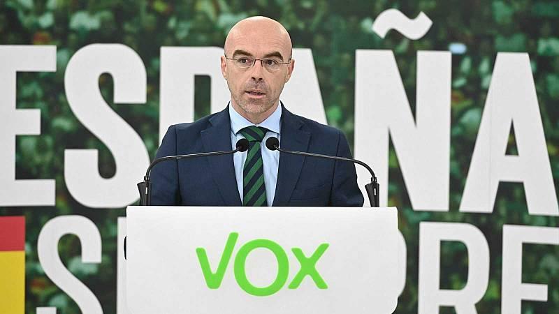 """Buxadé (Vox) dice que las ayudas de la UE deben dirigirse """"exclusivamente"""" al empleo y la economía y que España debe """"tener compromiso"""" con su devolución"""