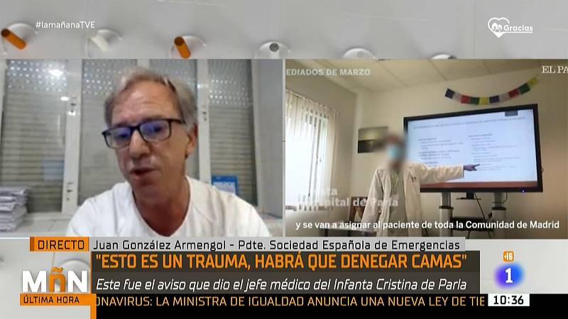 """El presidente de la Sociedad Española de Emergencias: """"Se tomaron decisiones en un contexto durísimo, con un cierto orden"""""""