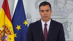 """Sánchez expresa su agradecimiento """"a todos los ciudadanos por el sacrificio"""" en la crisis del coronavirus"""