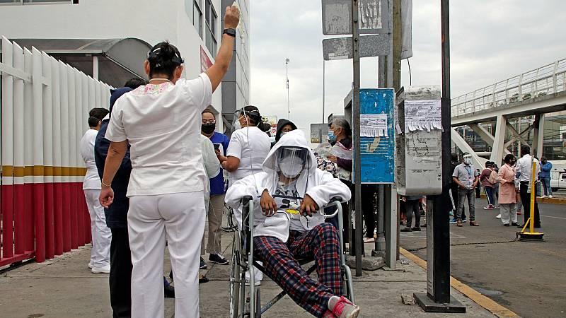 Pánico tras el terremoto entre los enfermos de Coronavirus en un hospital de México