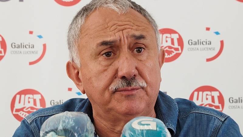 """Álvarez (UGT), sobre la negociación de los ERTE con Gobierno y patronal: """"Espero que podamos tener un acuerdo mañana"""""""