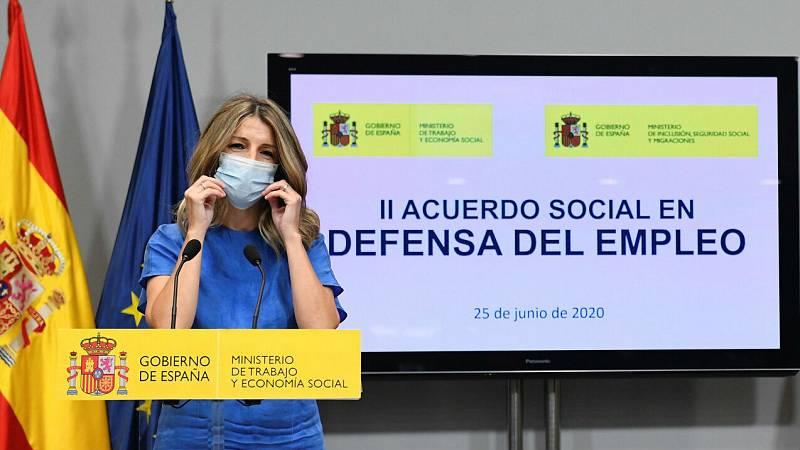 """Yolanda Díaz: """"Nos consta que ha habido fraude por parte de algunas empresas en cuanto a los ERTE"""""""