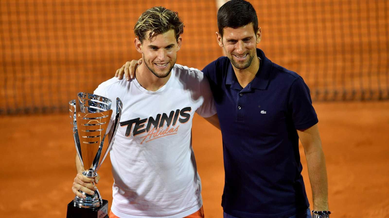 Thiem se disculpa por los excesos cometidos en el torneo de Djokovic