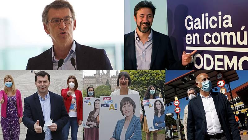 Comienza la campaña electoral en Galicia entre la defensa de Feijóo a su gestión y llamadas al cambio político