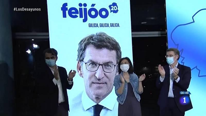 Elecciones gallegas: La pandemia de la Covid-19 se hace notar en los primeros actos de campaña
