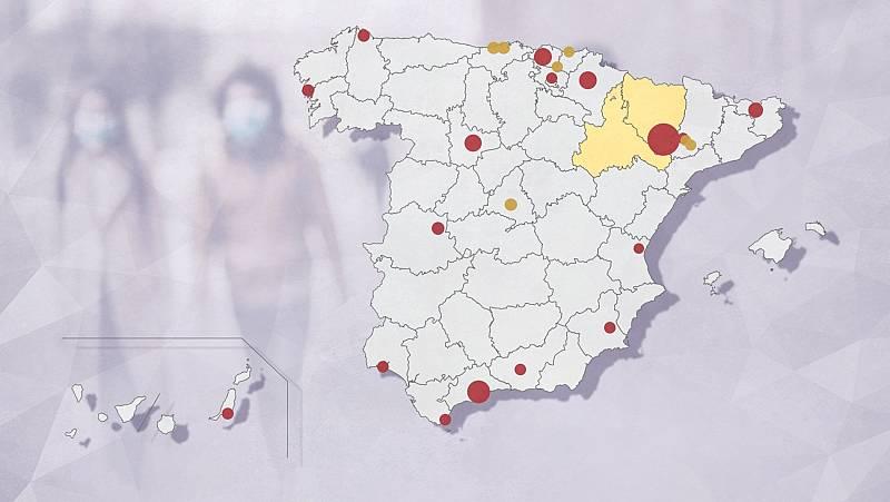 Los brotes en España siguen creciendo con más de 20 focos activos