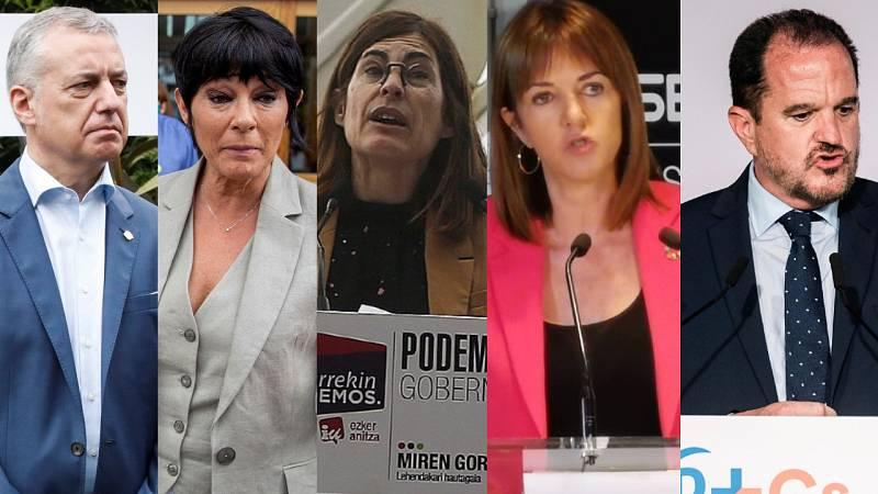 Los candidatos a las elecciones vascas piden el voto en el primer día de campaña en el que ha habido agresiones a miembros de Vox