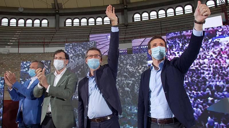 """Casado confía en Feijóo para """"catapultar"""" en España al PP como alternativa de Gobierno en España"""