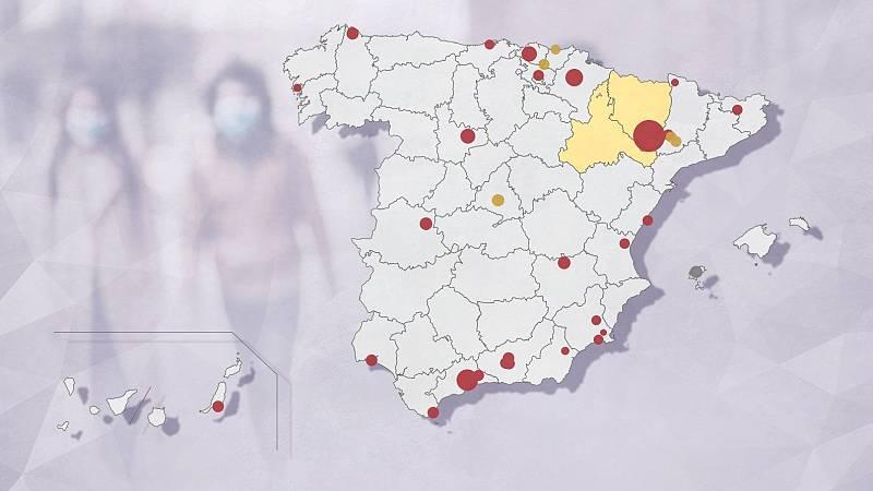 Lleida acumula ocho de los 56 brotes de coronavirus detectados en España