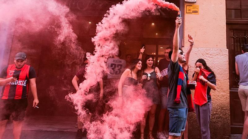 Los aficionados del Baskonia no respetaron las normas de seguridad durante la celebración del título