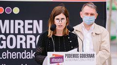 """Gorrotxategi (Podemos) defiende el """"derecho a decidir"""" pero aboga por un reconocimiento de la """"identidad vasca"""" dentro de España"""