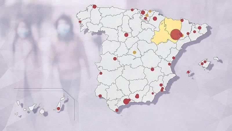 Sanidad vigila 58 brotes de coronavirus