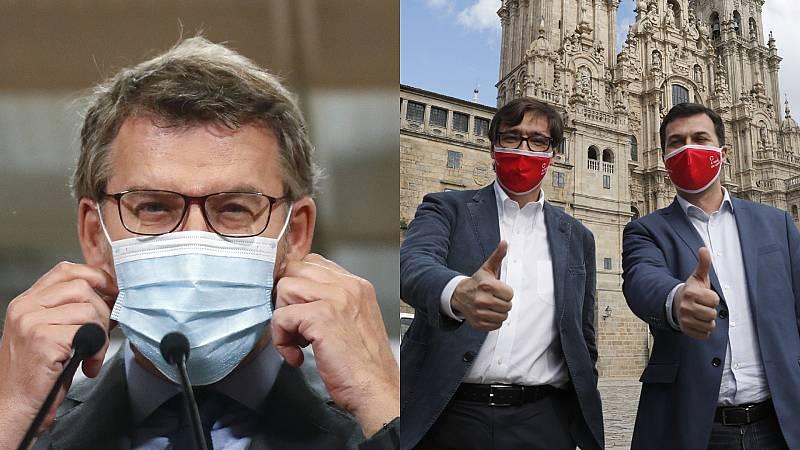 """Elecciones gallegas: Feijóo pide huir del enfrentamiento e Illa llama a iniciar """"un rumbo nuevo"""" en Galicia"""