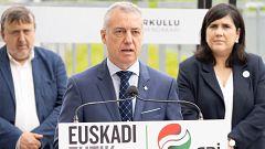 """Urkullu promete no subir los impuestos y Mendia le pide aclarar si pactará con Bildu """"proyectos de ruptura"""""""