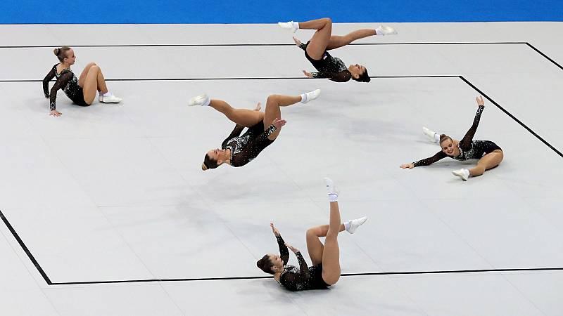 Las dificultades de practicar gimnasia con distancia de seguridad