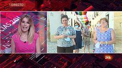 Mujeres de Aguilar de la Frontera en Córdoba tejen una de las banderas LGTBI más largas del mundo