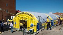 Lleida instala un hospital de campaña tras triplicar las personas hospitalizadas con coronavirus