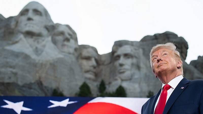 Trump defiende a los padres fundadores de EE.UU. en su discurso del 4 de julio en el Monte Rushmore