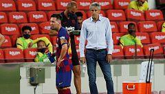 """Setién: """"No voy a especular con el futuro de Messi, no le he escuchado nada"""""""