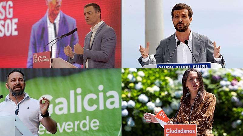 Elecciones gallegas: Los líderes nacionales echan el resto en la campaña
