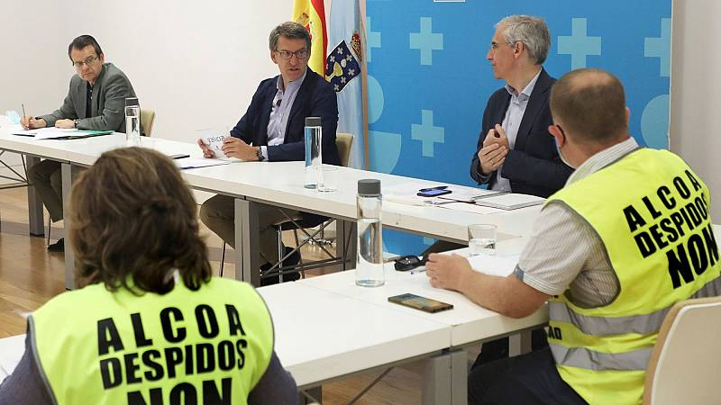 Los trabajadores de Alcoa y Feijóo piden que el Estado intervenga temporalmente la fábrica