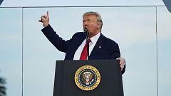 """Trump convierte en un mítin las celebraciones del 4 de julio: """"Estamos en proceso de derrotar a la izquierda radical"""""""
