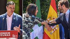 """Elecciones vascas: Sánchez pide el voto por una Euskadi más social y Casado mientras Arrimadas exhiben fuerza """"constitucionalista"""""""