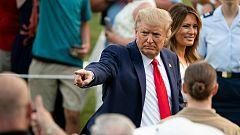 """Trump convierte la celebración del 4 de julio en un mitin e insiste en """"derrotar"""" a la """"izquierda radical"""""""