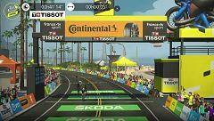 Julien Bernard se impone en un apretadísimo final en la segunda etapa del Tour virtual