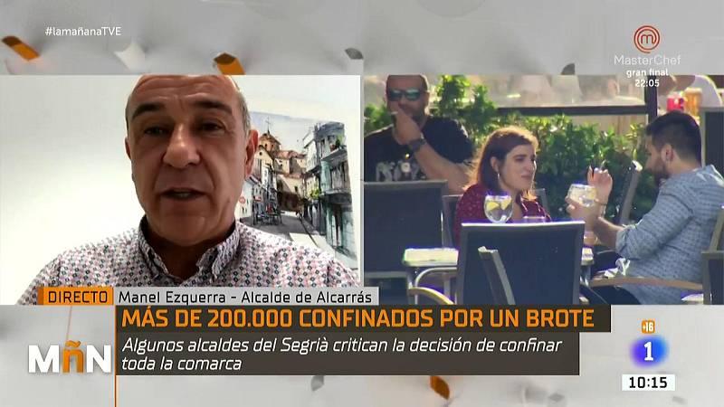 "Manuel Ezquerra, alcalde Alcarrás, lamenta que no se tomará de ""forma conjunta"" la decisión de cerrar el Segrià"