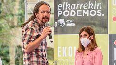"""Elecciones 12J: Iglesias asegura que Podemos es el único capaz de """"sentar en una mesa"""" a PSE y EH-Bildu"""
