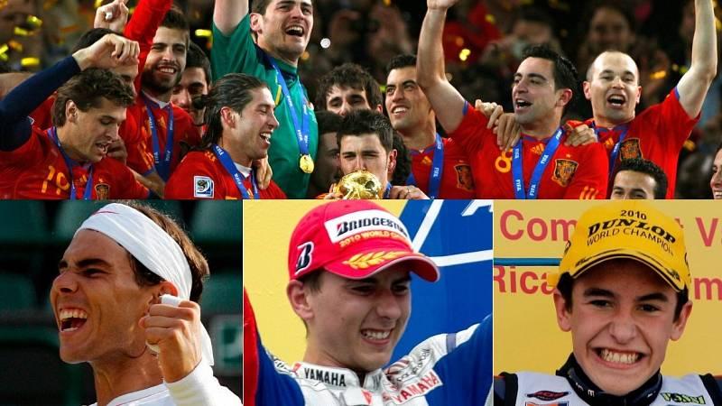 2010, un año de oro para el deporte español