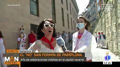 """El siete de julio más atípico en Pamplona: los """"no sanfermines"""" por el coronavirus"""