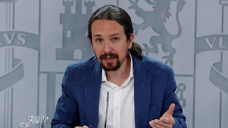 """Iglesias abre la puerta a negociar los presupuestos con Ciudadanos: """"El Gobierno va a hablar con todo el mundo"""""""
