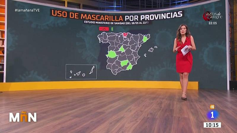 La lista de las provincias españolas que más y menos usan mascarilla