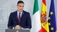 """Sánchez califica como """"inquietantes"""" y """"perturbadoras"""" las informaciones sobre el rey Juan Carlos I"""