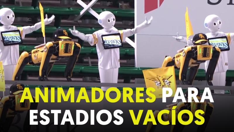 Una coreografía robótica para animar a un equipo de béisbol en Japón