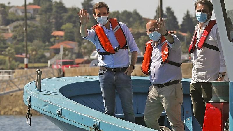 """Elecciones gallegas: Casado advierte de que """"no puede llamarse al alarmismo"""" sobre la seguridad al votar"""