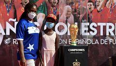 La copa del Mundo, en la plaza de Colón