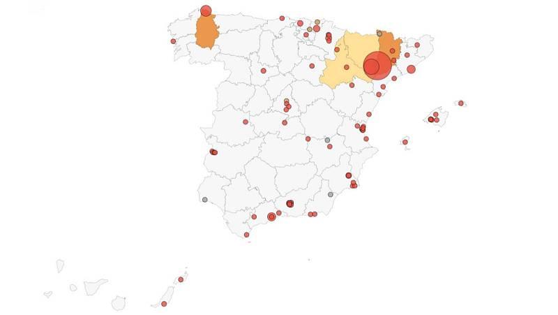 Los brotes activos en España ya superan el centenar
