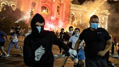 Cuarto día de protestas en Belgrado contra las medidas de confinamiento del Gobierno