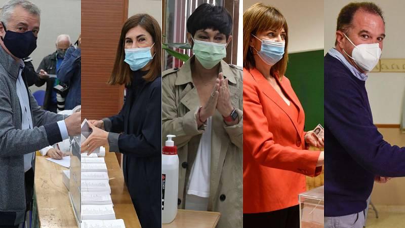"""Urkullu y el resto de candidatos vascos animan a votar: """"Es seguro"""""""