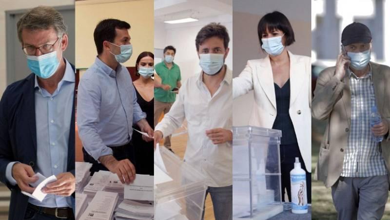 Los candidatos gallegos votan y lanzan un mensaje de tranquilidad