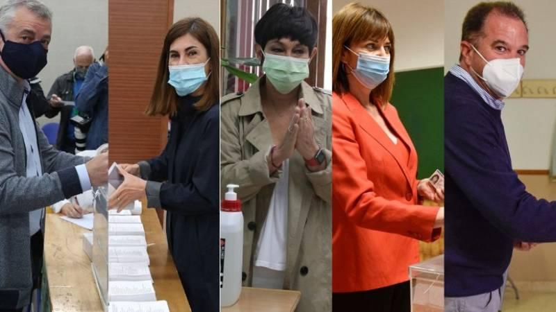 """Los candidatos vascos votan y animan a participar: """"Votar es seguro"""""""