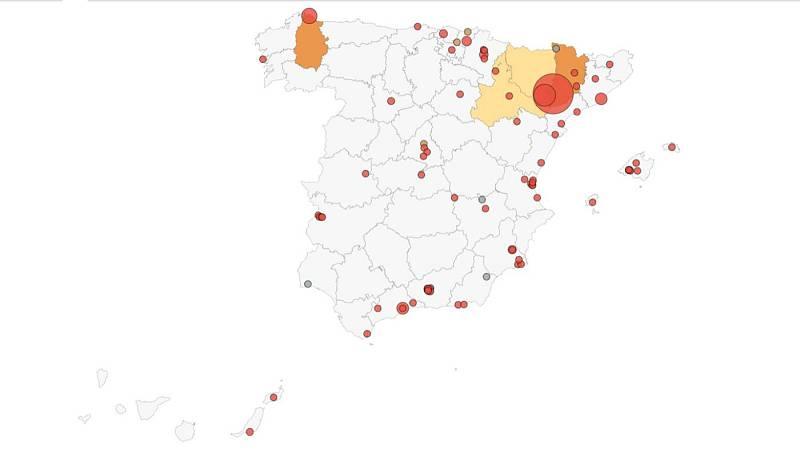 Nuevos brotes en Extremadura y Andalucía