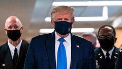 Por fin Donald Trump se ha puesto la mascarilla en público